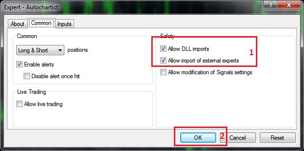 Cara Menggunakan Autochartist Expert Advisor 02