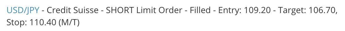 Filled Short Limit Order Placed Short Limit Order eFX Plus