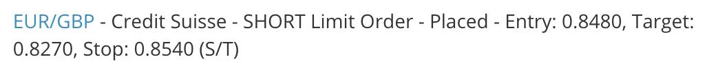 Placed Short Limit Order eFX Plus